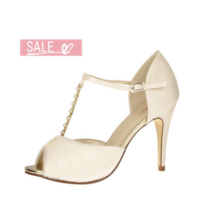 Bridal shoe Adrianna Ivory Satin/ It. Tulle