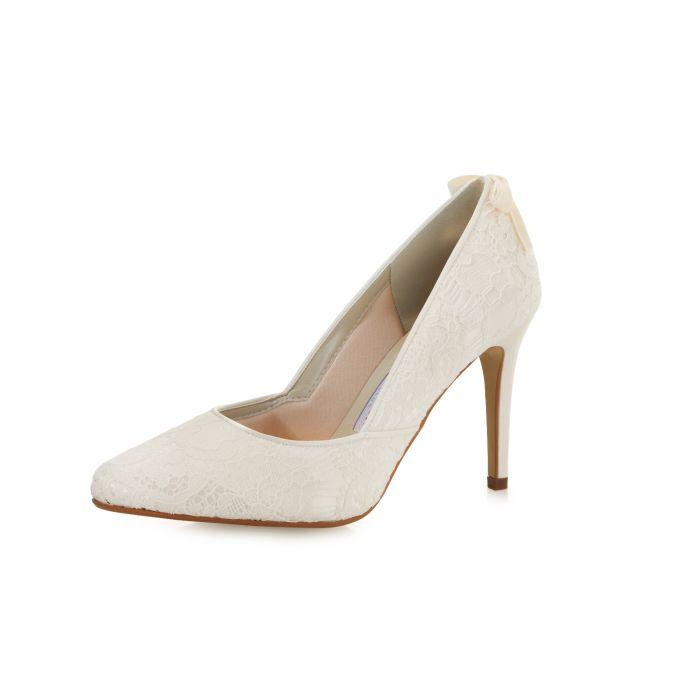 Bridal shoe Agnes Ivory Luxury Lace/ Satin