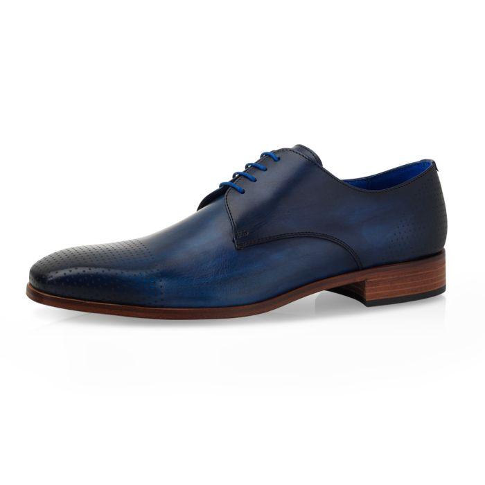 Hochzeitsschuhe Alwin Calf Leather Milan - Dark Blue