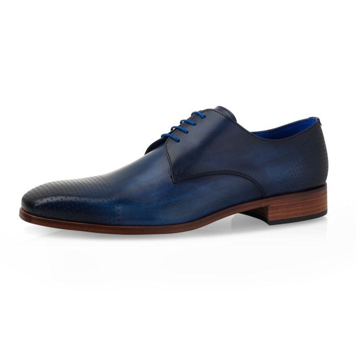 Wedding shoe Alwin Calf Leather Milan - Dark Blue