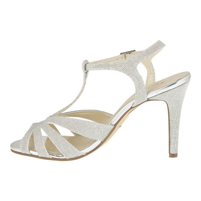 Bridal shoe Annabel Silver Metallic
