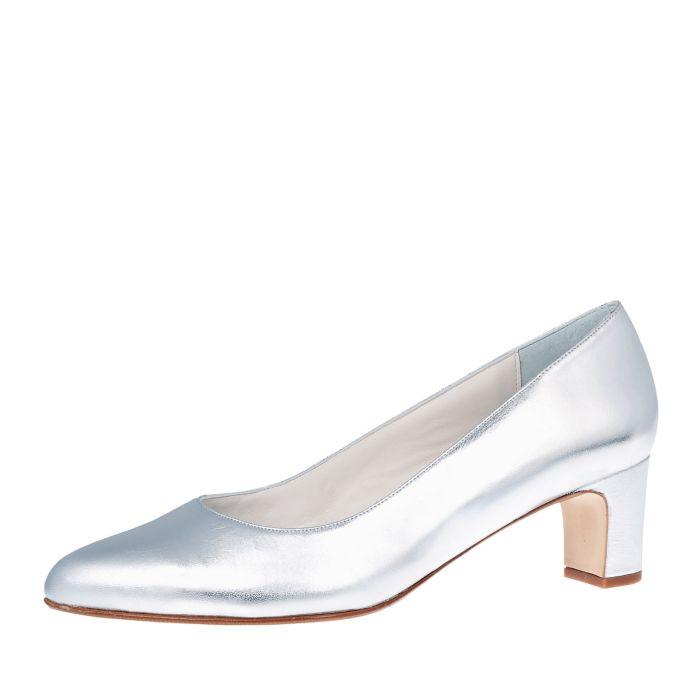 Bridal shoe Anya Silver Leather
