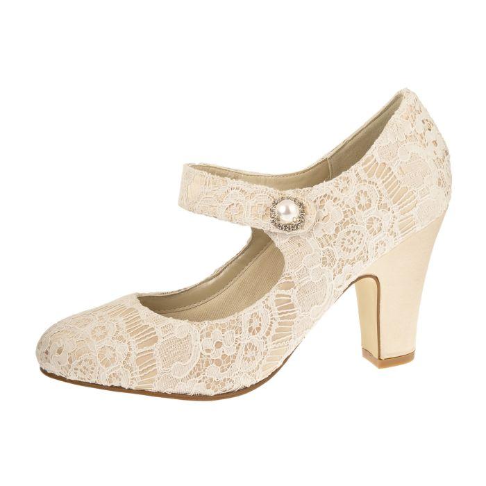 Bridal shoe Betty Gold/ Ivory Vint. Satin