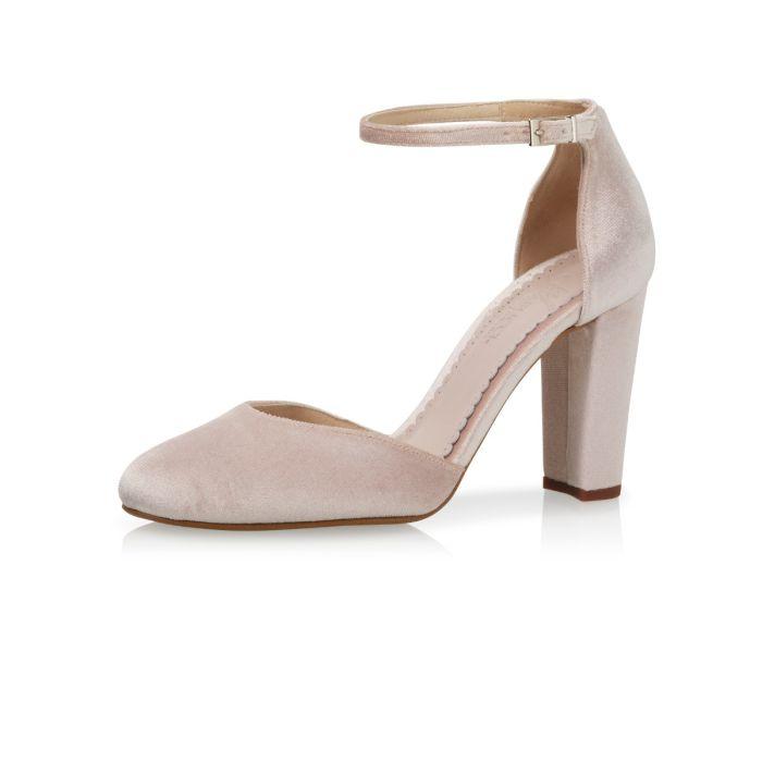 Bridal shoe Beverli Blush Velvet