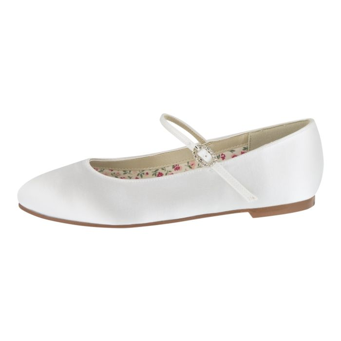 Brautschuhe Bridal shoe Binx White Satin
