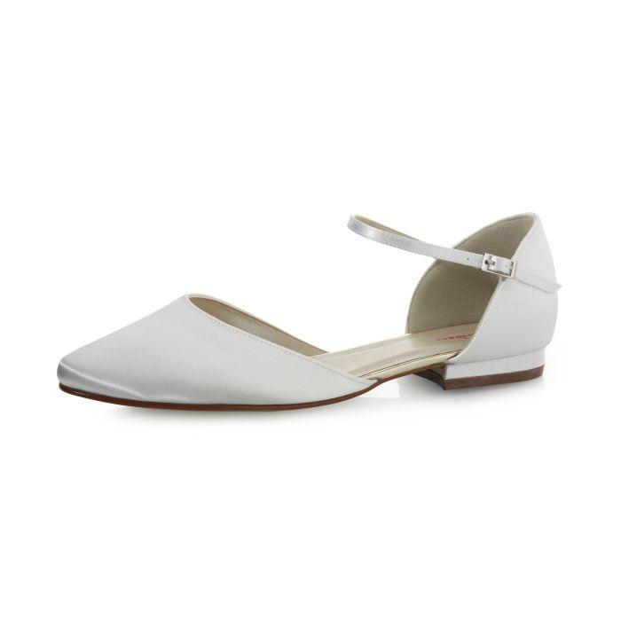 Bridal shoe Cameron Pure White Satin