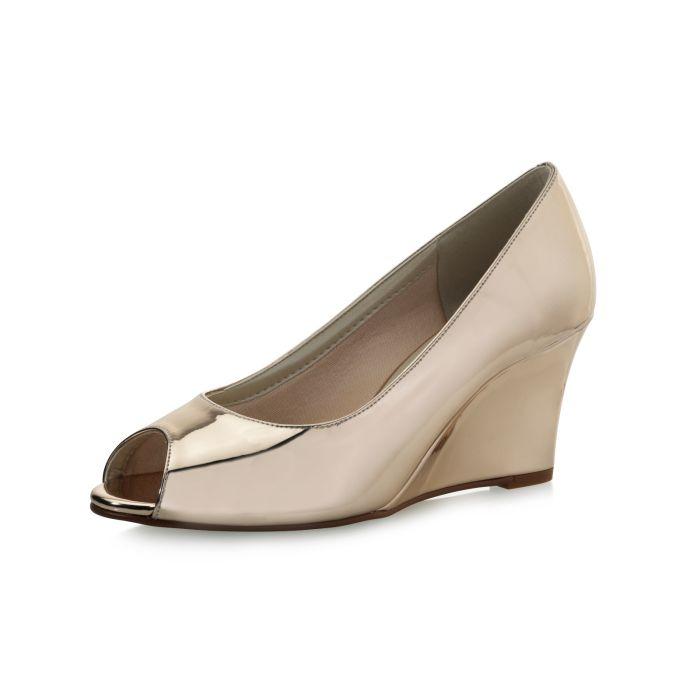 Bridal shoe Channa Rose-Gold Mirror