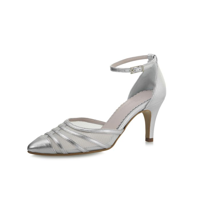 Bridal shoe Cilla Platino Leather