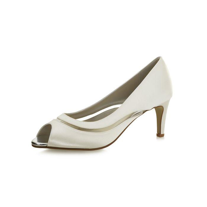 Bridal shoe Cressida Ivory Satin