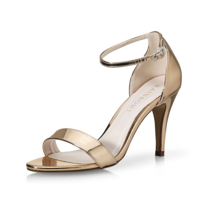 Bridal shoe Dali Rose-Gold Mirror