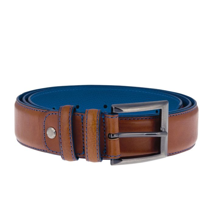Belt Danny Calf Leather - Brandy dark (24)