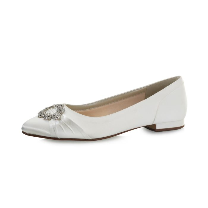 Bridal shoe Dulcie Ivory Satin