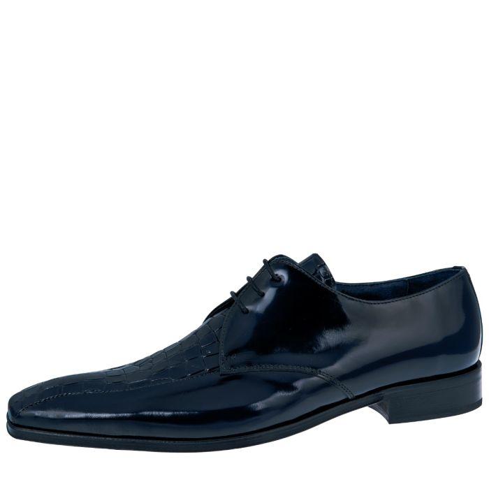 Wedding shoe Edward Dark Blue Croco/ College