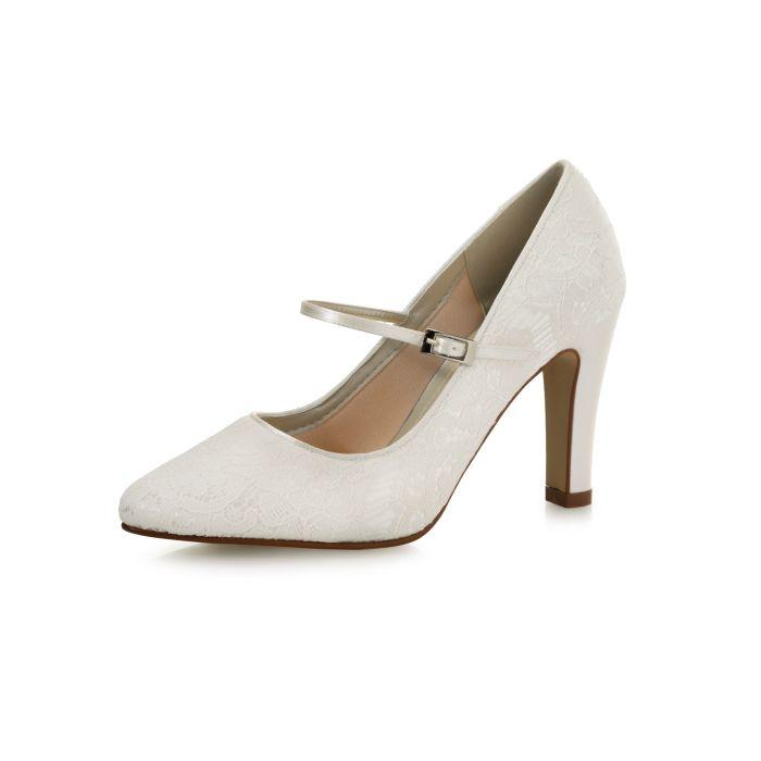 Bridal shoe Evelin Ivory Luxury Lace/ Satin