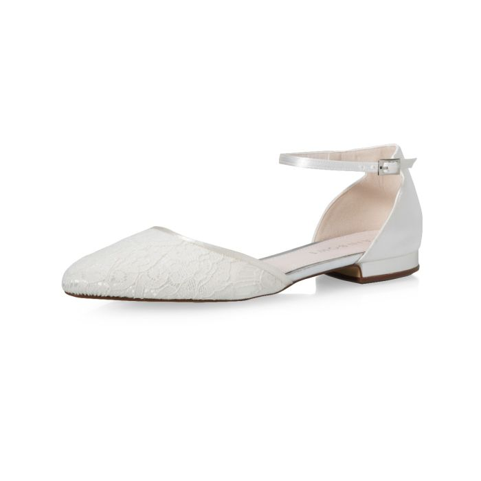 Bridal shoe Fizz Ivory Luxury Lace/ Satin