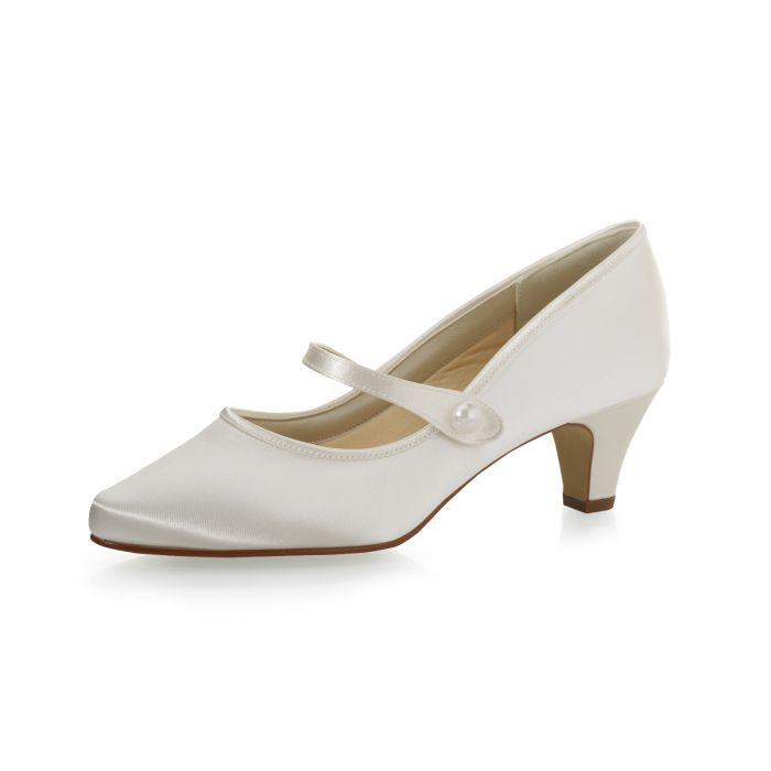 Bridal shoe Heather Ivory Satin