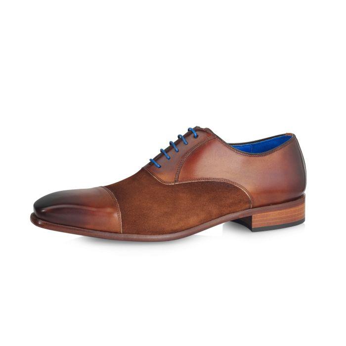 Wedding shoe Jarno Calf L./Suede- Castano