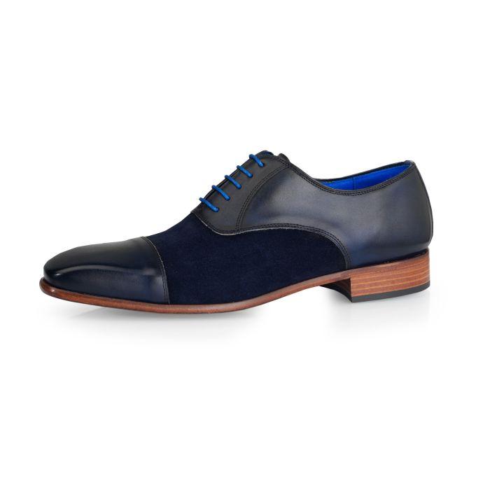 Wedding shoe Jarno Calf L. /Suede- Dark Blue