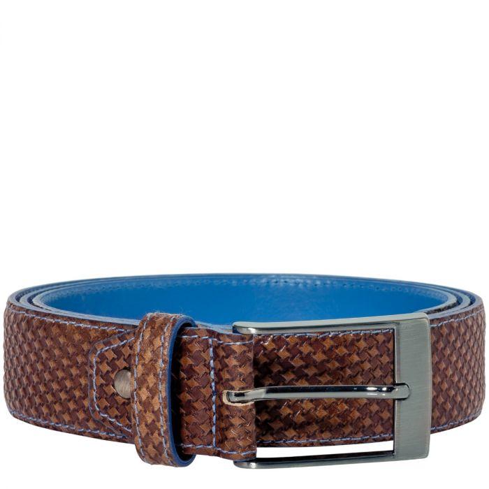Belt Jeremy Calf Leather Texas - Castano