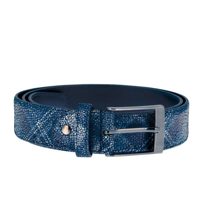 Gürtel Jeremy Scottish Pattern - D.Blue