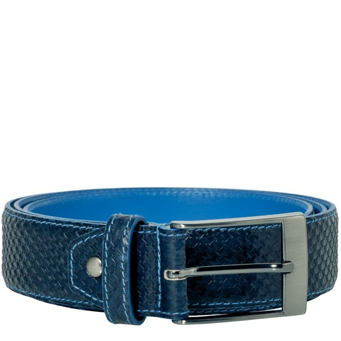 Belt Jeremy Calf Leather Texas - Dark Blue