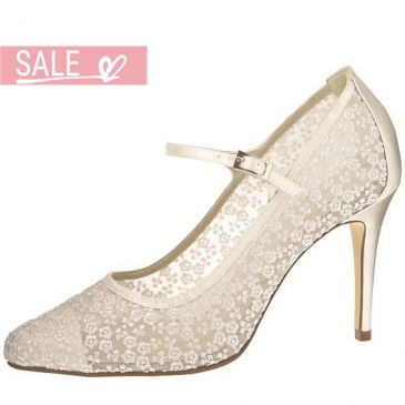Bridal shoe Adora Ivory Flower Lace