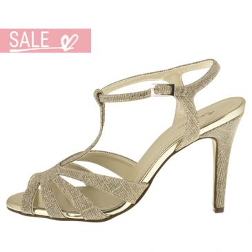 Bridal shoe Annabel Gold Metallic