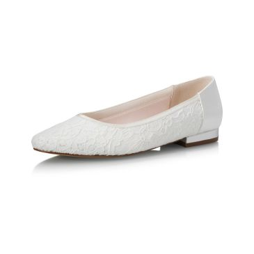 Bridal shoe Ashlee Ivory Lace/ Satin