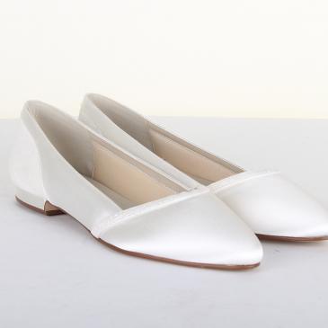 Belina Ivory Satin/Off-White Fi. Glitter