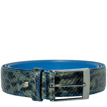 Jeremy Calf Leather Reptile - Forest
