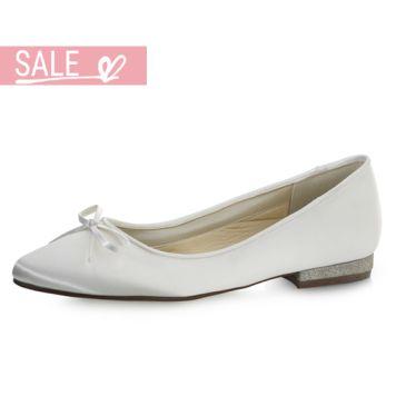 Bridal shoe Brittany White Satin/ Fi.Glitter