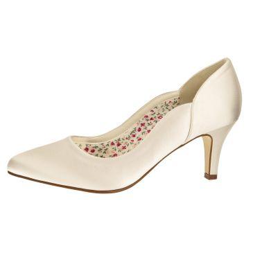 Bridal shoe Butterscotch Ivory Satin