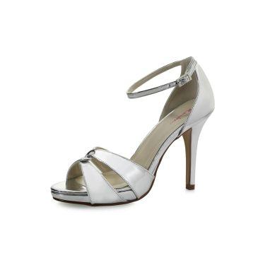Bridal shoe Cate Silver Mirror