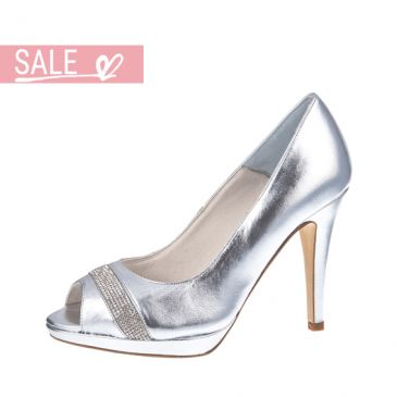 Brautschuhe Charisse Silver Leather/ Crystals