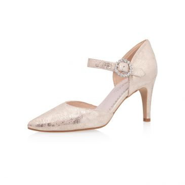 Christelle Champagne Gold Suede (Leather)