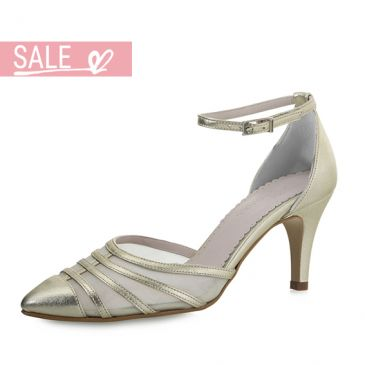 Bridal shoe Cilla Gold Leather