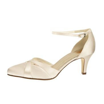 Bridal shoe Coconut Ice Ivory Satin