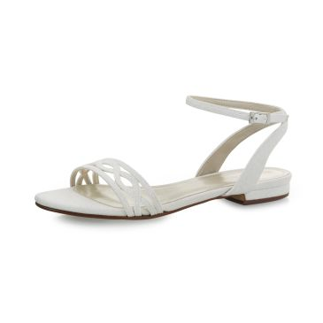 Bridal shoe Faye Off-White Metallic