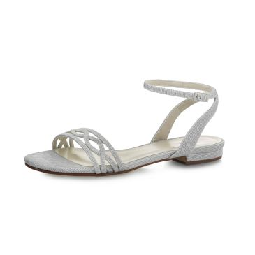 Bridal shoe Faye Silver Metallic