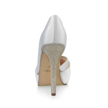 Kelis White Satin/ Fine Glitter