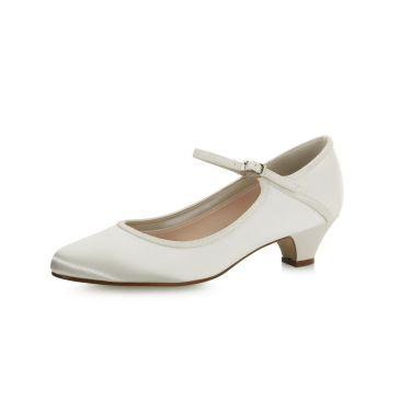 Marsha Ivory Satin/Off-White Fine Glitter