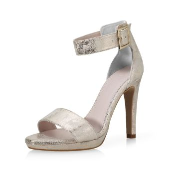 Marysol Champagne Gold Suede