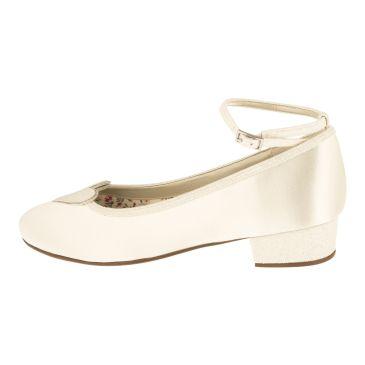 Minnie Ivory Satin/ Fine Glitter