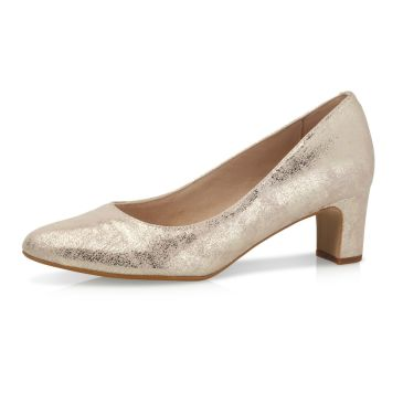 Palma Champagne Gold Suede