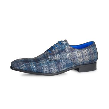 Teodoro Scottish Pattern- Dark Blue