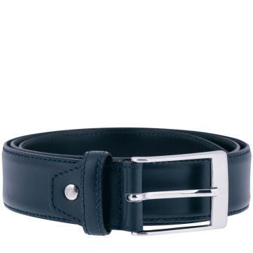 Tony Dark Blue Calf Leather