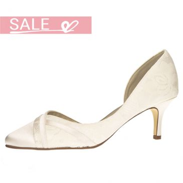 Wilma Ivory Satin/ Lace