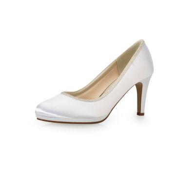 Yanna Pure White Satin/Sliver Fi.Glitter