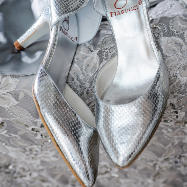 Zita Silver Snake Leather